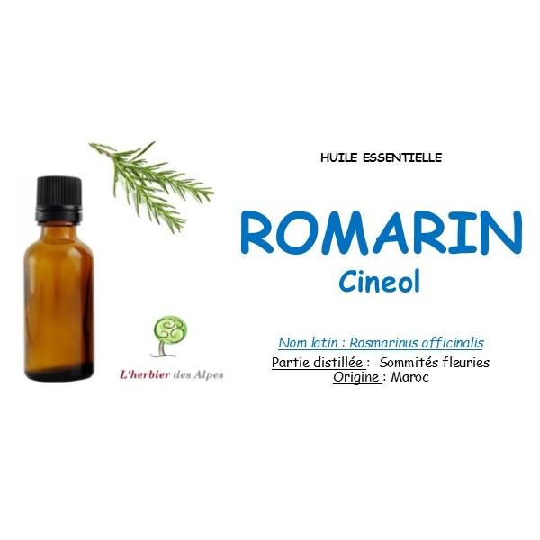Huile essentielle de romarin cinéole