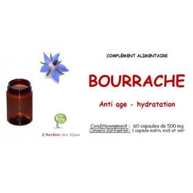 Huile de bourrache + vitamine E capsules